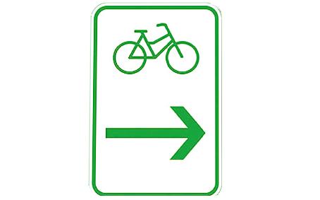 Radwegebeschilderung Zwischenwegweiser