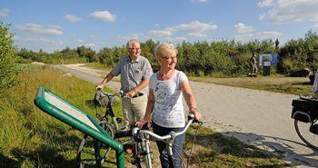 Radfahrer unterwegs im Bargerveen